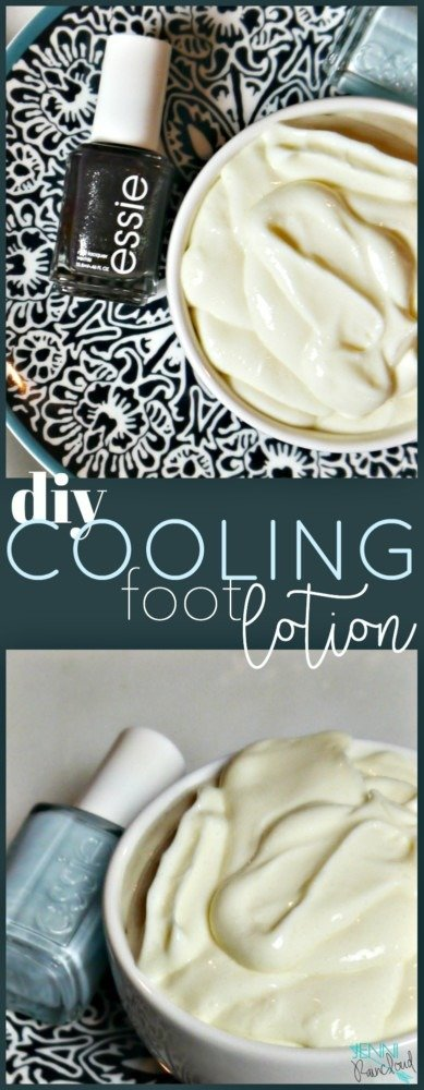 DIY Foot Cooling Lotion