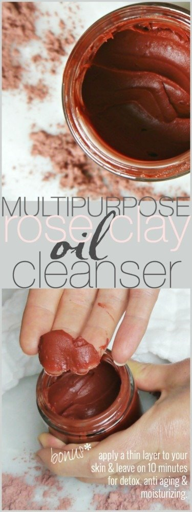 DIY Rose Clay Oil Cleanser