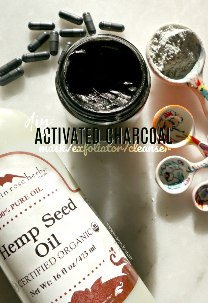 DIY Activated Charcoal Mask/Cleanser/Exfoliator