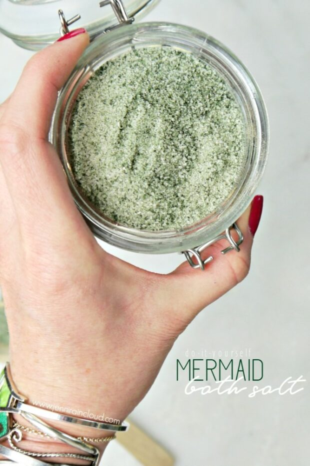 DIY Mermaid Bath Salt