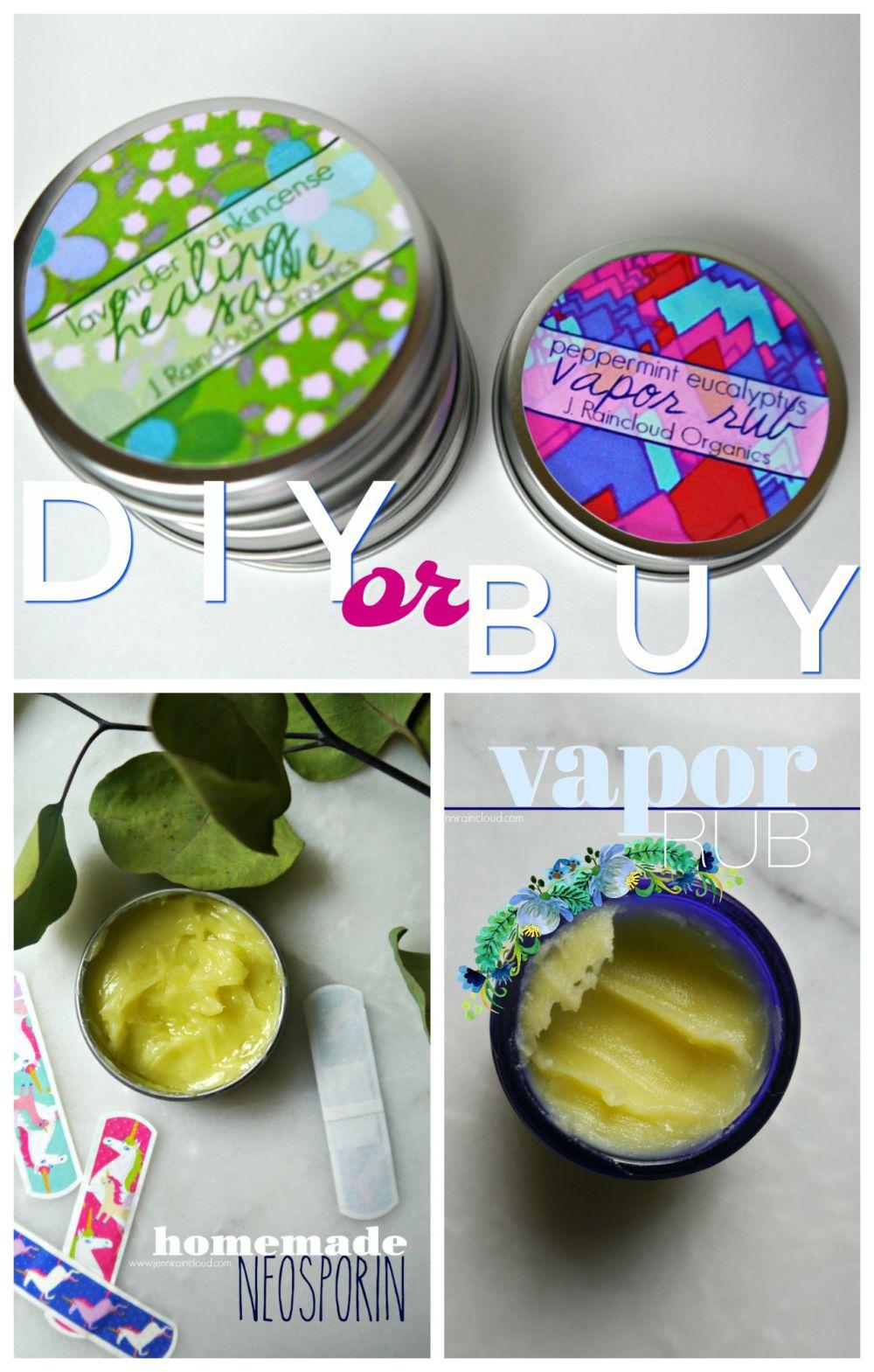 DIY or BUY Vapor Rub and Healing Salve
