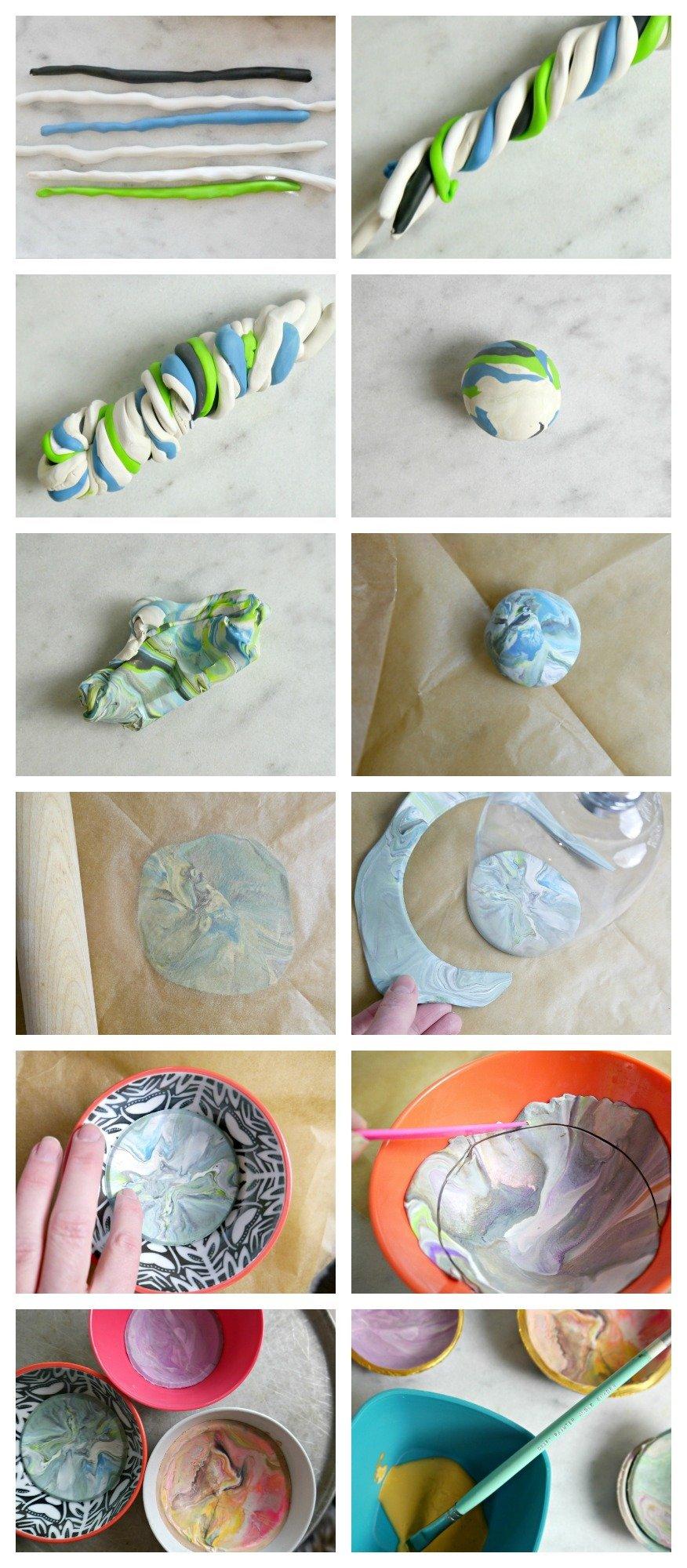 DIY Marbled Clay Dish