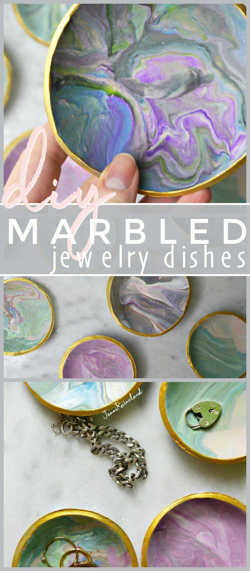 Marbled Jewelry Dish DIY