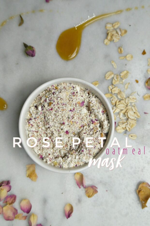 DIY Rose Petal Oatmeal Mask