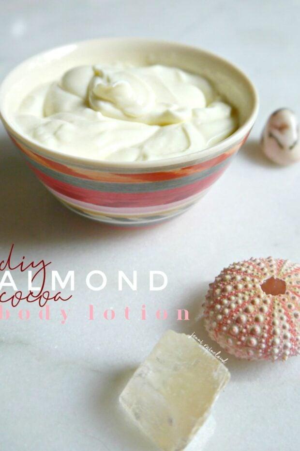 DIY Almond Cocoa Body Lotion