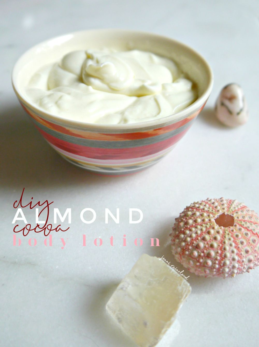 DIY Almond Cocoa Body Lotion