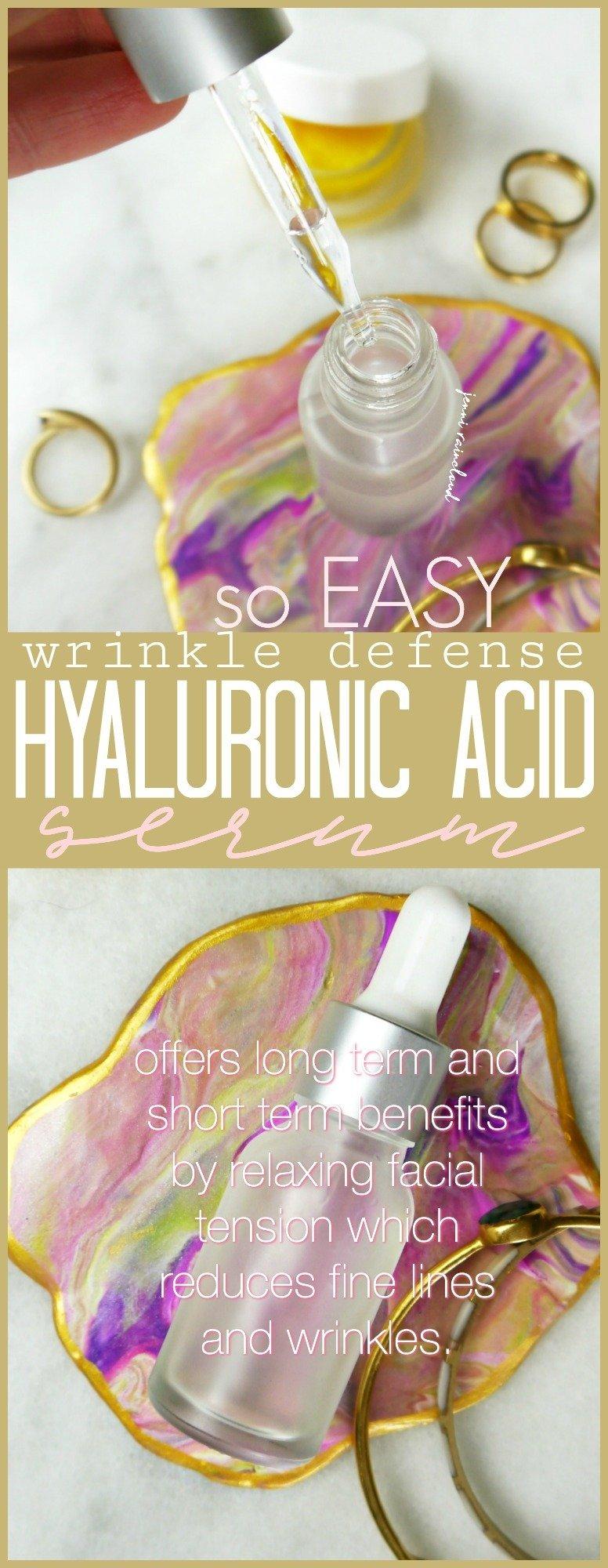 DIY Hyaluronic Acid Wrinkle Defense Serum