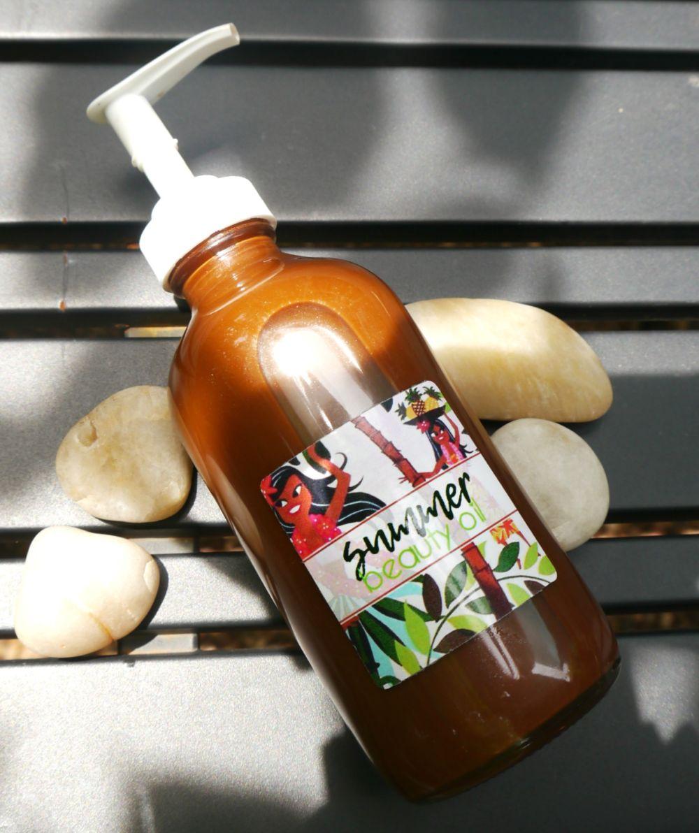 DIY Sun Tan Oil with Bronzer