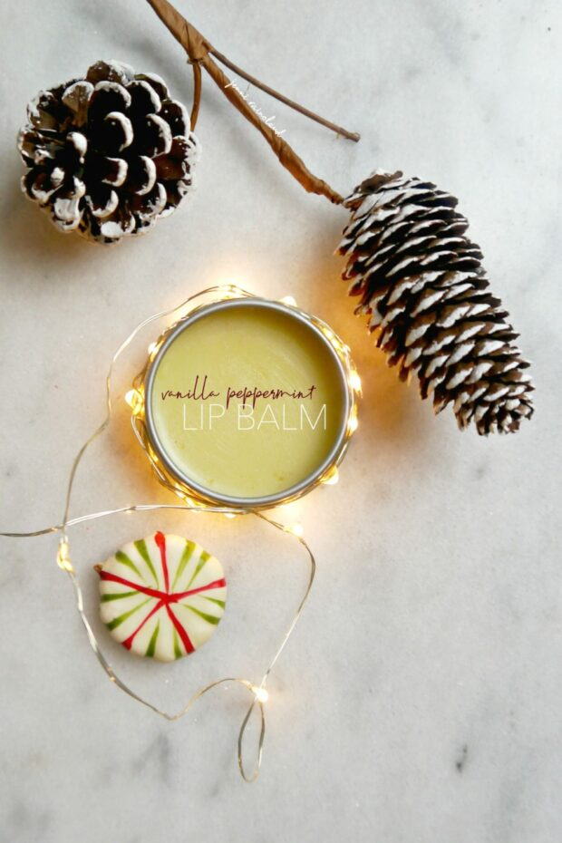 DIY Vanilla Peppermint Lip Balm