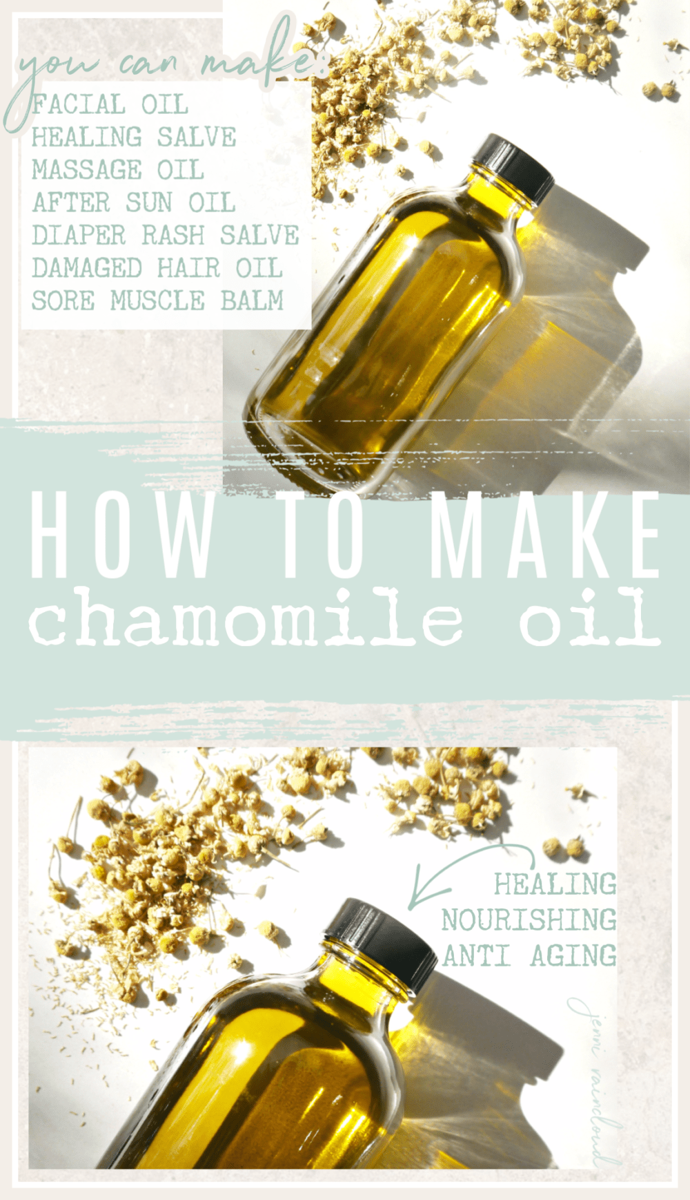 DIY Infused Chamomile Oil