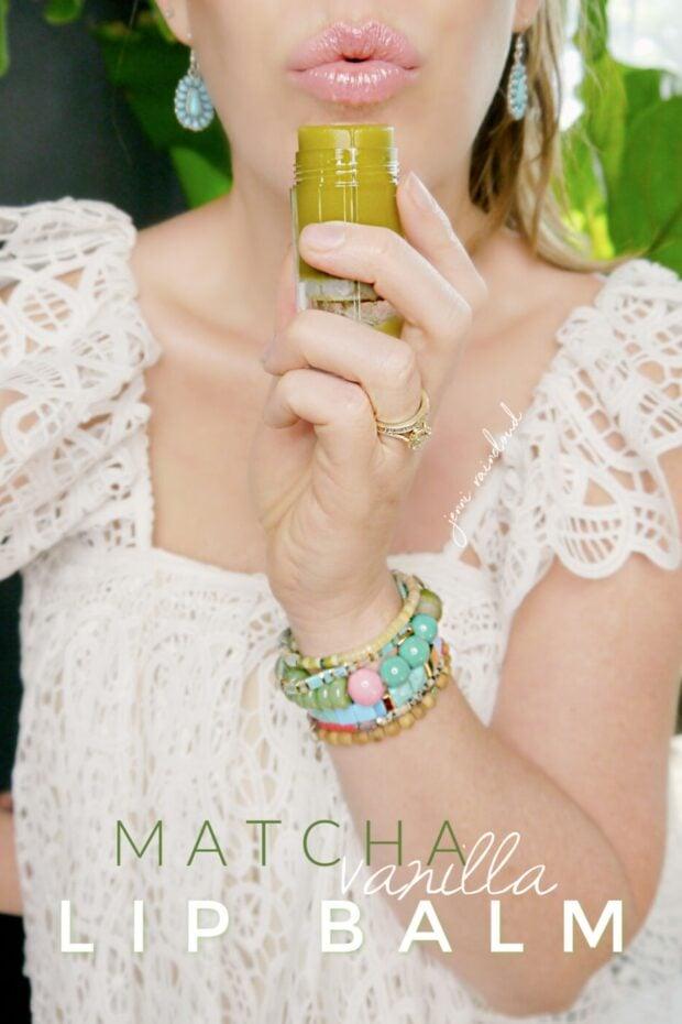 DIY Matcha Vanilla Lip balm