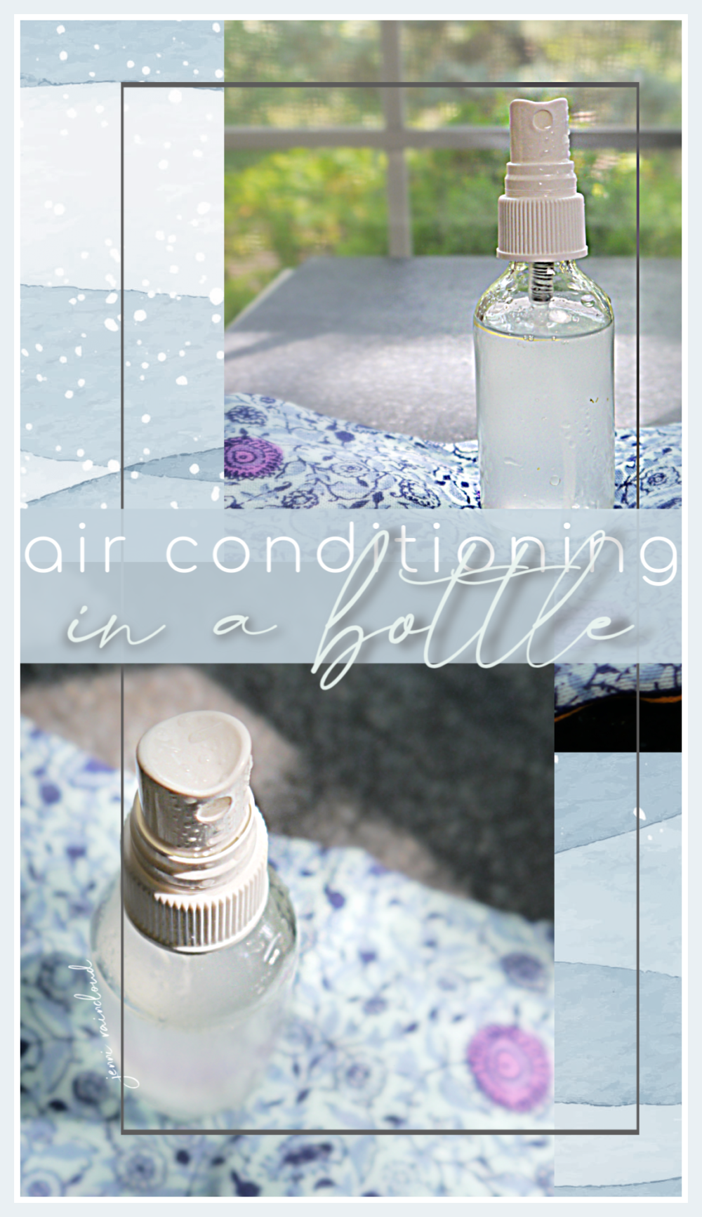 DIY Air Conditioning in a Bottle