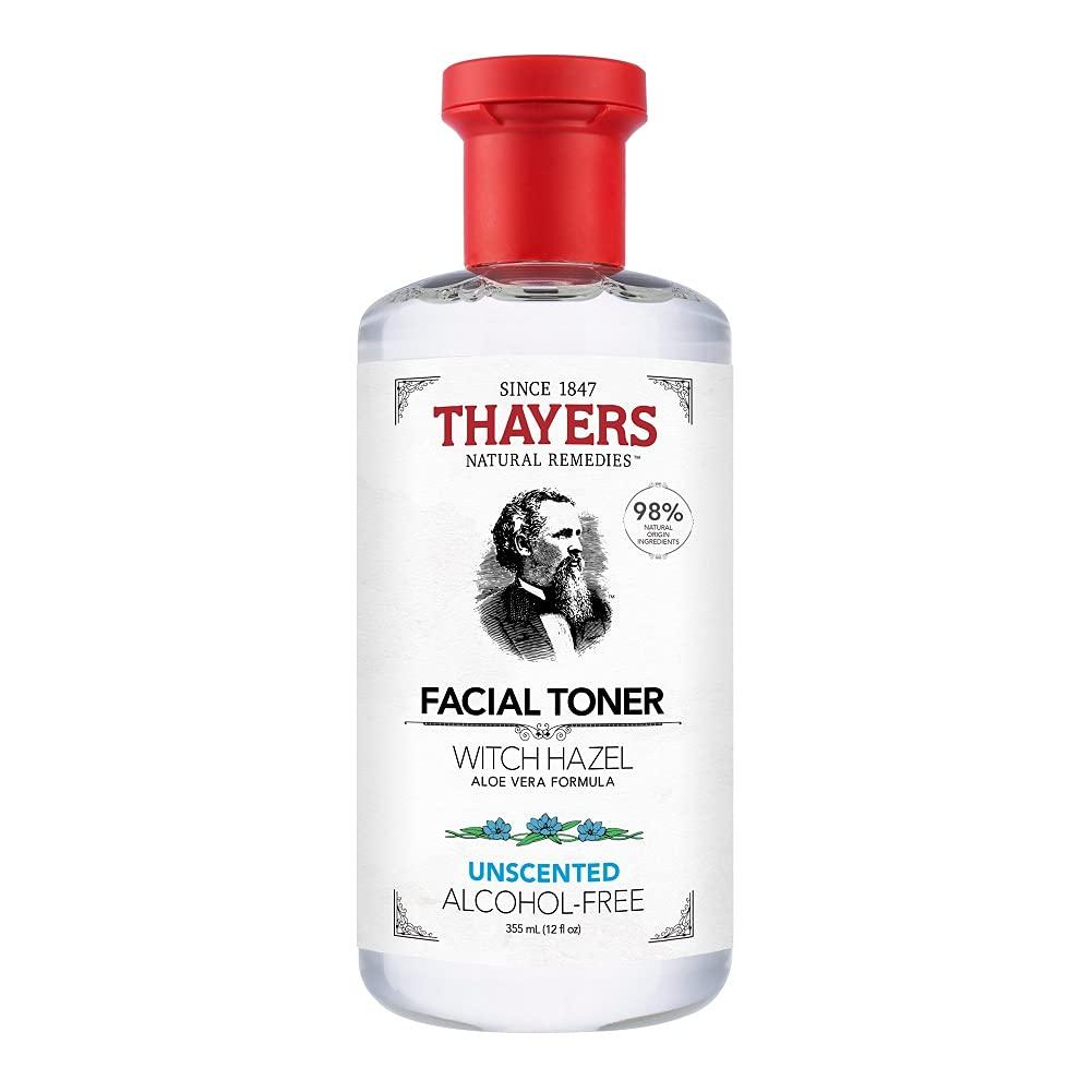 Thayers Alcohol-Free Unscented Witch Hazel Facial Toner with Aloe Vera Formula - 12 oz