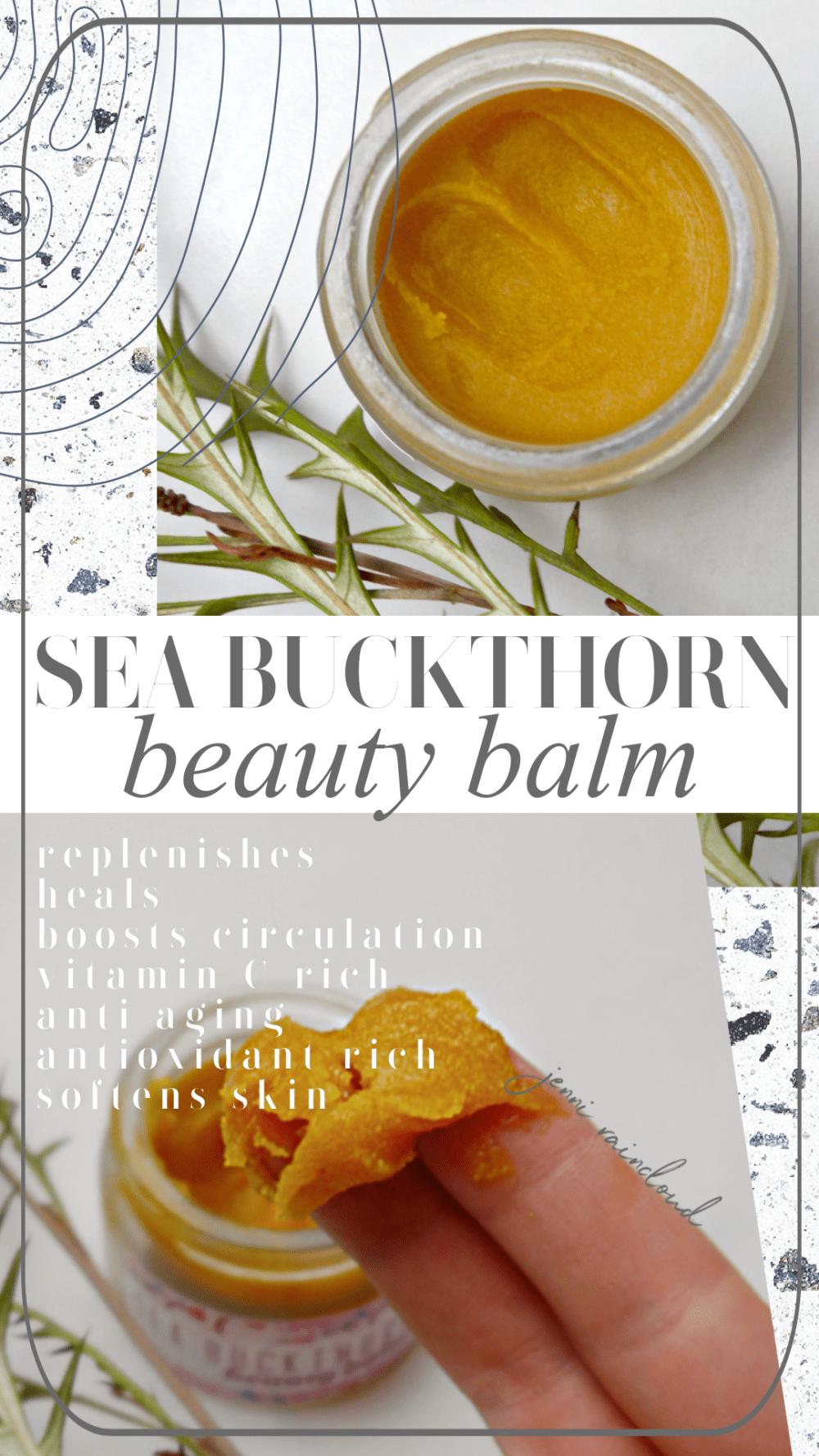 DIY Sea Buckthorn Balm