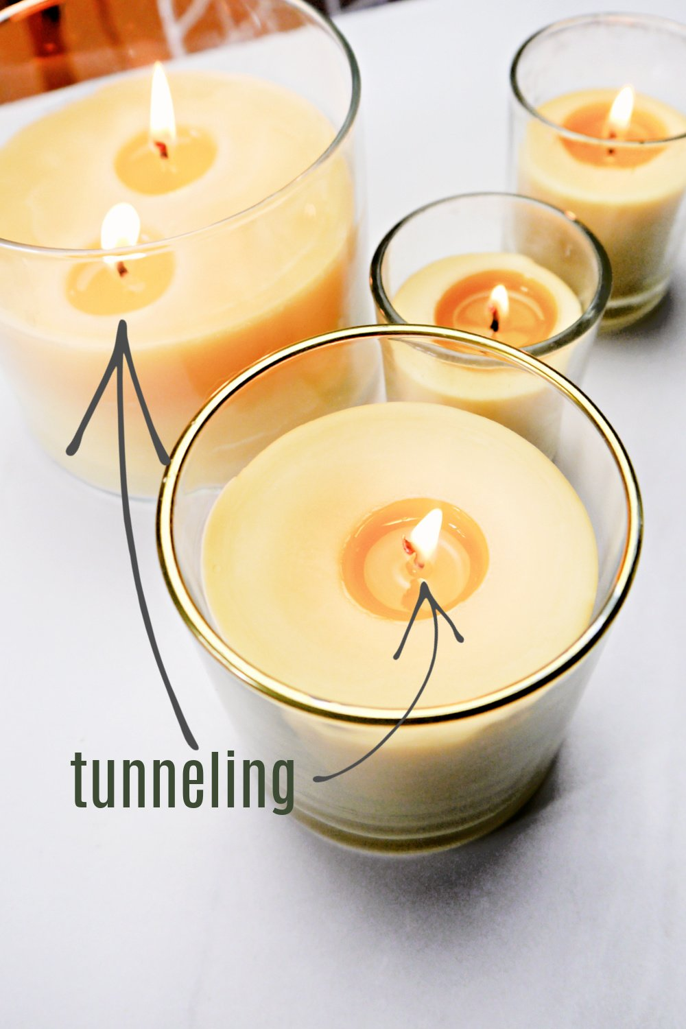 Homemade Beeswax Candles tunneling