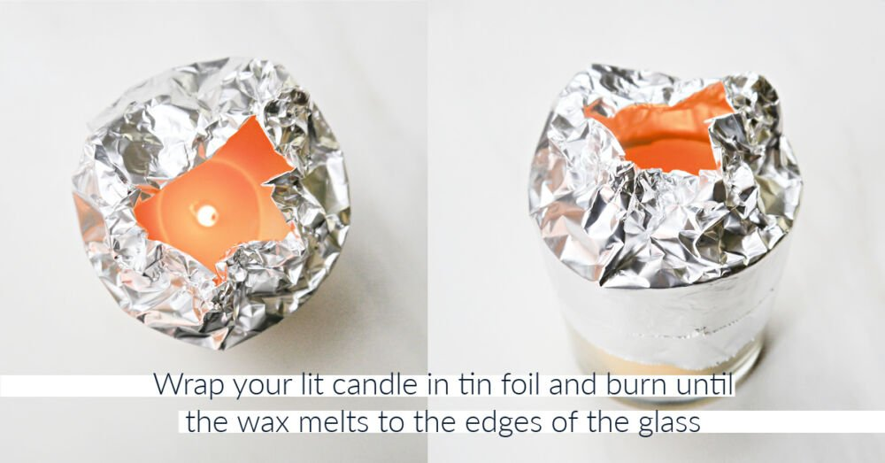 How to Make Beeswax Candles Tin Foil
