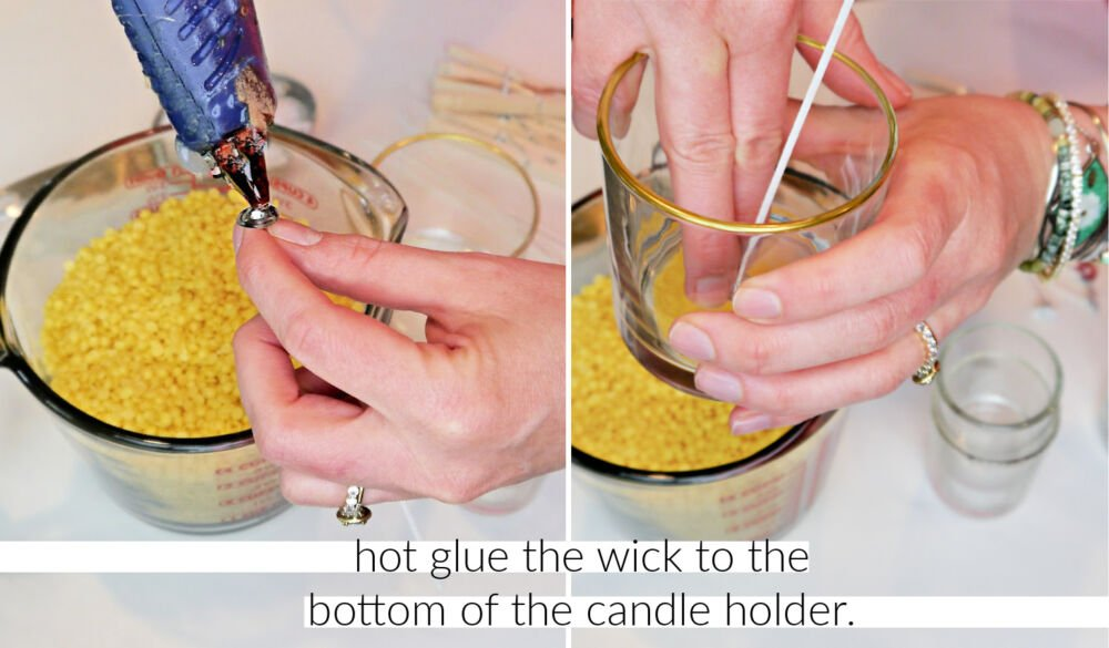 How to Make Beeswax Candles Glue Wick