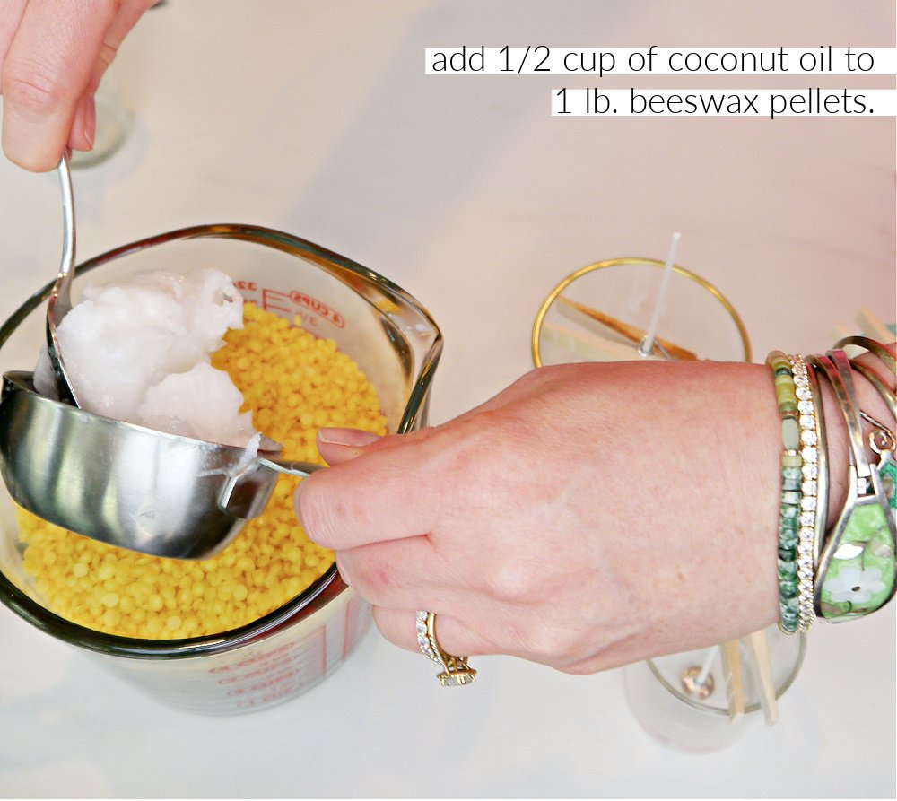 How to make Beeswax Candles Coconut Oil