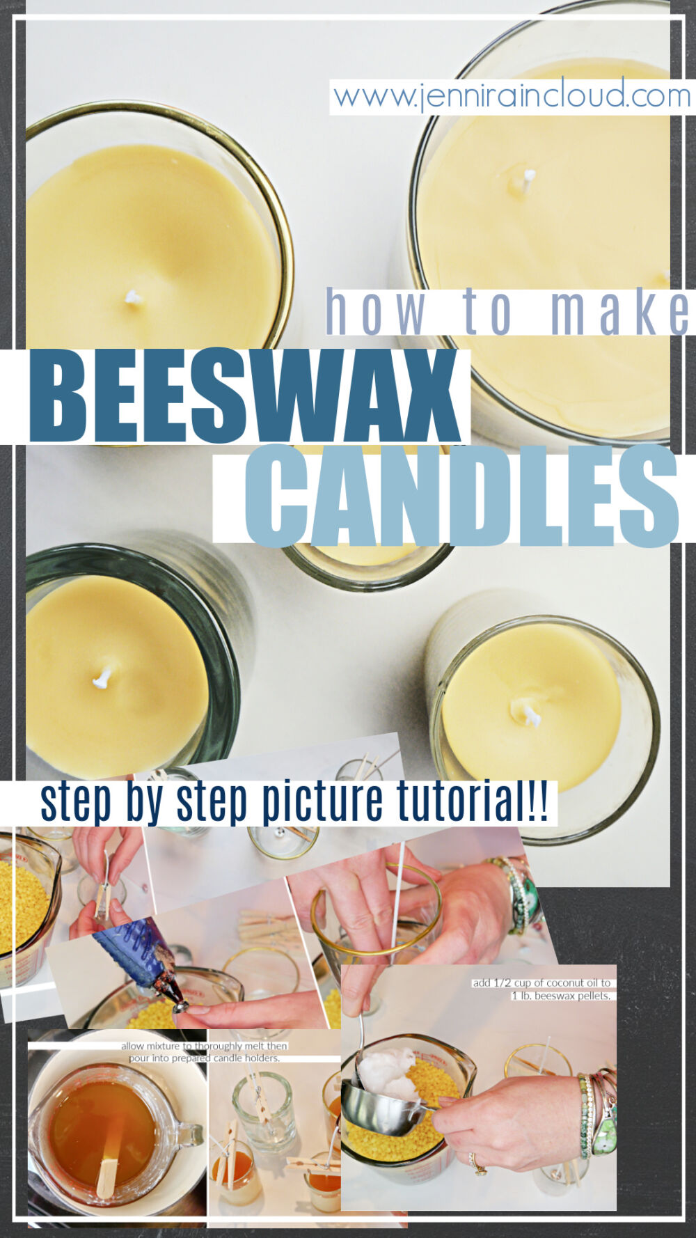 How to make Beeswax Candles pinterest