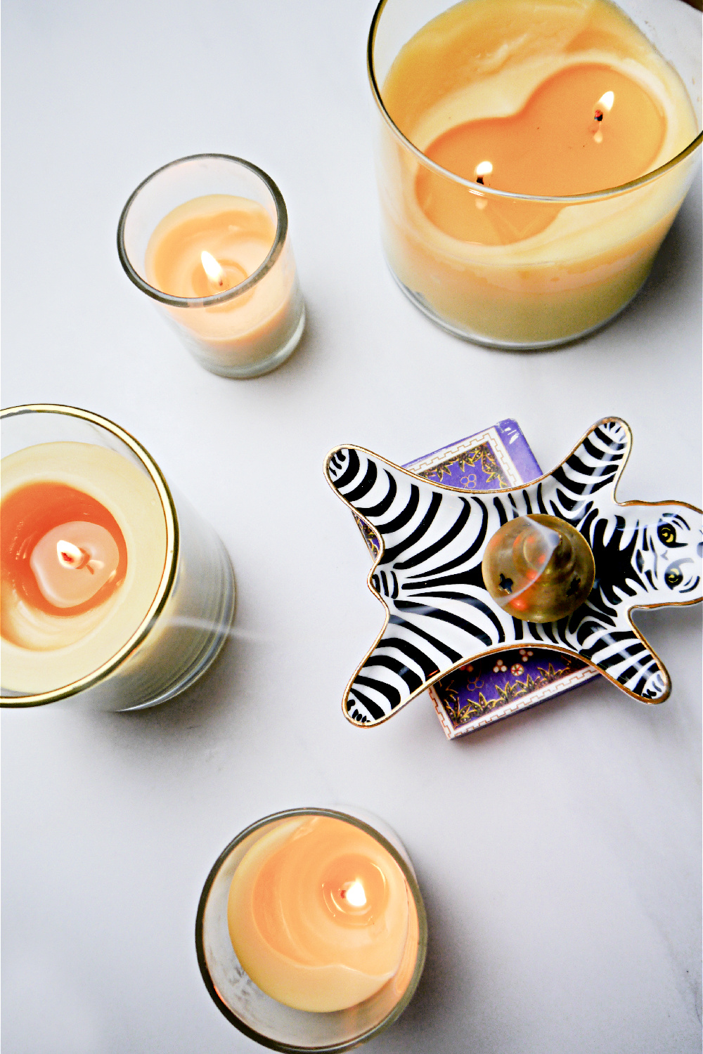 How to make Beeswax Candles lit candles