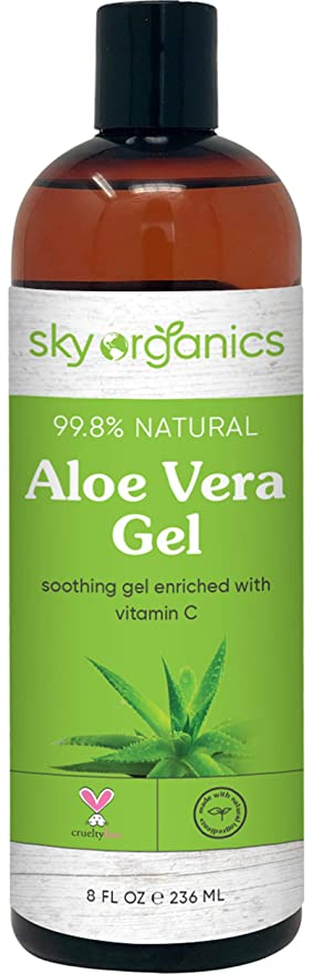 Amazon.com : Aloe Vera Gel (8 oz) Cold-pressed Ultra Hydrating Skin Soothing Aloe Gel for Face Body After-Sun Care Aloe Gel Made in USA : Beauty & Personal Care
