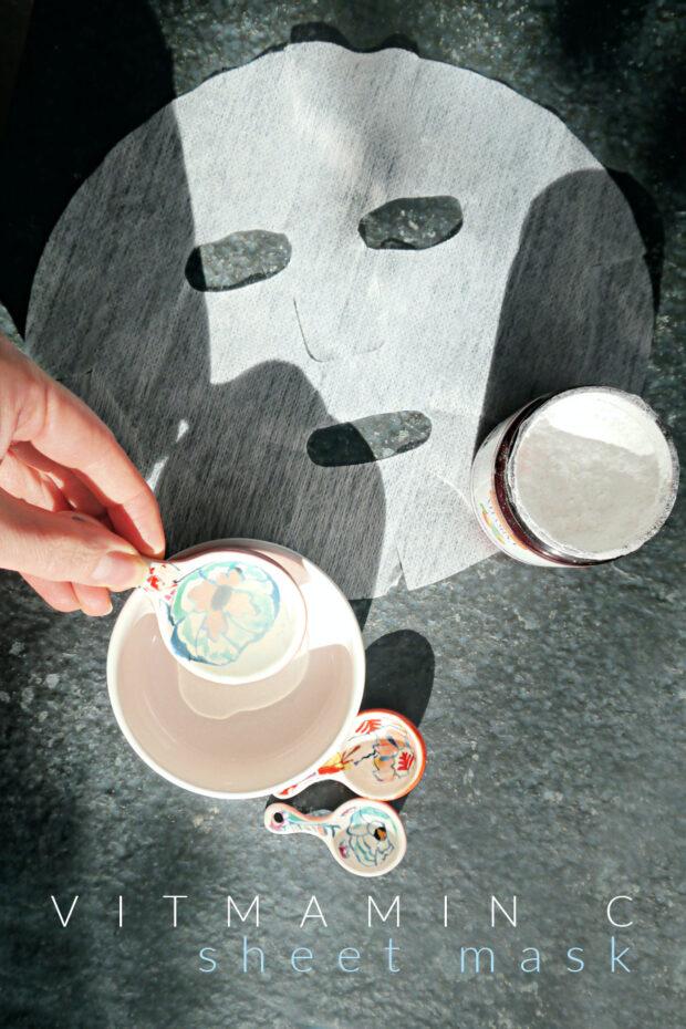 DIY Vitamin C Sheet Mask